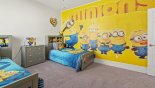 Bedroom #6 with twin beds & Minion theming from Providence rental Villa direct from owner