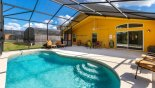 Villa rentals in Orlando, check out the Covered lanai with ceiling fan provides welcome shade when needed
