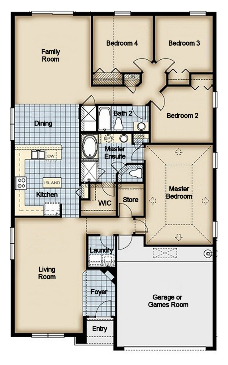 Beach Palm 18 Floorplan