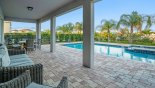 Orlando Villa for rent direct from owner, check out the View from covered lanai towards pool & spa