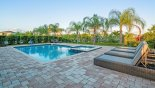 Quality luxury sun loungers for ultimate sun bathing comfort with this Orlando Villa for rent direct from owner