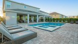 Hawthorne 1 Villa rental near Disney with View of pool deck towards covered lanai