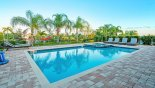 Villa rentals in Orlando, check out the Pool deck with 7 sun loungers