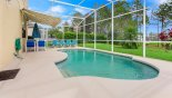 Pool deck with 4 sun loungers from Monticello 2 Villa for rent in Orlando