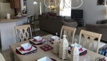 Dining area viewed towards great room from Highlands Reserve rental Villa direct from owner