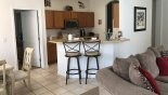 Springtree 1 Villa rental near Disney with Kitchen breakfast bar with 2 bar stools