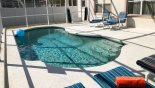 Sunny east facing pool with privacy fencing to 2 sides - www.iwantavilla.com is the best in Orlando vacation Villa rentals