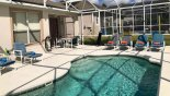 Springtree 1 Villa rental near Disney with Pool deck with 4 sun loungers plus 2 reclining chairs & footstools
