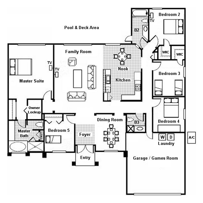 Madison + 1 Floorplan