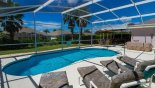 View of pool with 4 sun loungers from Madison + 1 Villa for rent in Orlando