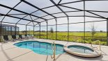 South facing pool & spa with open views from Atlantic 2 Villa for rent in Orlando