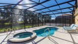 Spacious rental Solterra Resort Villa in Orlando complete with stunning Sunny south facing pool & spa with partial open views