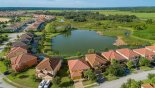 Villa rentals in Orlando, check out the Aerial street view showing conservation land beyond lake