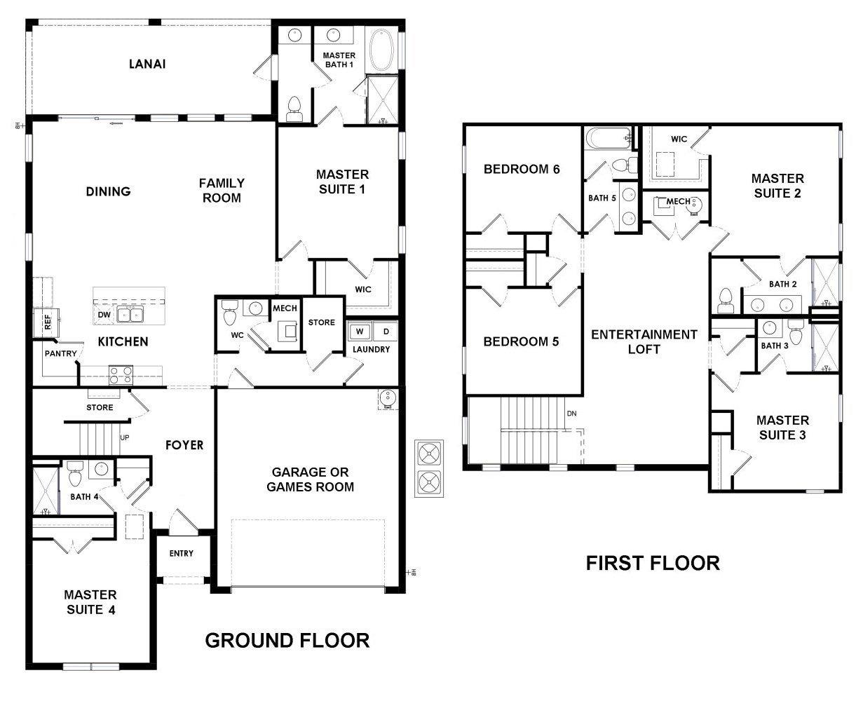 Belize 4 Floorplan