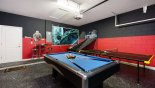 Games room with pool table, table tennis & basketball game - www.iwantavilla.com is the best in Orlando vacation Villa rentals
