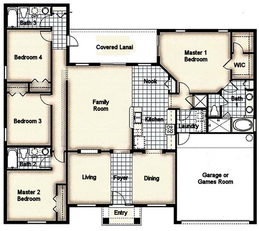 Cape Coral 3 Floorplan