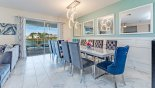 Orlando Villa for rent direct from owner, check out the Dining area with views & direct access onto pool deck