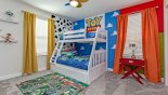 Orlando Villa for rent direct from owner, check out the Bedroom #8 with bunk beds (twin over full-size) and Toy Story theming