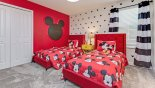 Maui 3 Villa rental near Disney with Bedroom #5 with twin beds & Mickey Mouse theming
