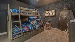Villa rentals in Orlando, check out the Bedroom #3 with bunk bed (twin over full-size) & Star Wars theming