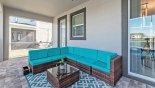 Maui 3 Villa rental near Disney with Soft seating area under shady lanai