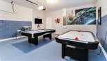 Star Wars themed games room with pool table, air hockey & wall mounted LCD TV from Solterra Resort rental Villa direct from owner