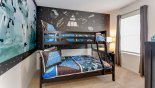 Bedroom #5 with bunk beds (twin over full-size) & Star Wars theming - www.iwantavilla.com is your first choice of Villa rentals in Orlando direct with owner