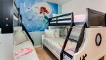 Spacious rental Solterra Resort Villa in Orlando complete with stunning Bedroom #4 with dual (twin over full-size) bunk beds sleeping up to 6 children