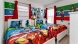 Orlando Villa for rent direct from owner, check out the Bedroom #3 with twin sized beds & Marvel Hero's theming
