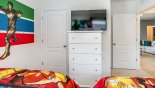 Atlantic 3 Villa rental near Disney with Bedroom #3 with wall mounted LCD cable TV