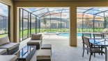 View from covered lanai towards pool & spa from Solterra Resort rental Villa direct from owner