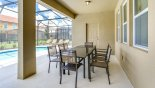 Atlantic 3 Villa rental near Disney with Covered lanai viewed towards door leading to pool WC