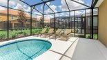 Pool deck with 4 sun loungers from Atlantic 3 Villa for rent in Orlando