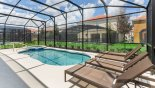 Villa rentals in Orlando, check out the Extended pool deck with plenty of room for the 4 sun loungers