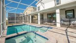 Villa rentals near Disney direct with owner, check out the View of pool & spa from sun loungers