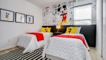 Bedroom #12 with twin beds and Mickey Mouse theming from Solterra Resort rental Villa direct from owner