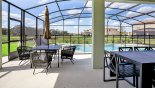 Patio table with parasol and 4 armchairs - www.iwantavilla.com is your first choice of Villa rentals in Orlando direct with owner