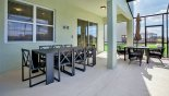 Villa rentals near Disney direct with owner, check out the Large patio table with 8 chairs under shady lanai
