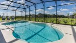 Extended section of pool deck gets the sun all day with this Orlando Villa for rent direct from owner