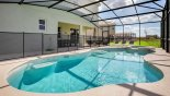 Villa rentals in Orlando, check out the View of pool towards covered lanai