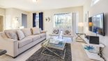 Villa rentals in Orlando, check out the Family room with comfortable seating to watch the TV
