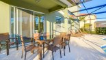 Villa rentals near Disney direct with owner, check out the Patio table with 6 chairs plus 2 spare chairs