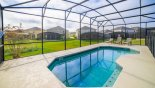 Villa rentals near Disney direct with owner, check out the View of pool with 3 sun loungers