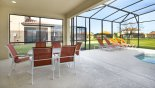 Rimini 2 Villa rental near Disney with Covered lanai with patio table & seating for 6 through to the deck