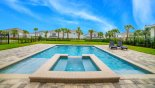 Magnificent south-west facing pool & spa with this Orlando Villa for rent direct from owner