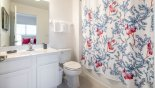 Spacious rental Providence Villa in Orlando complete with stunning Master #2 ensuite with bath & shower over, single vanity & WC