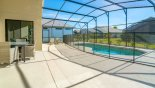 Orlando Villa for rent direct from owner, check out the Pool viewed from covered lanai - note pool safety fence erected