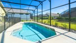 View of the stunning south facing pool bathed in the Florida sunshine from Sable Palm 2 Villa for rent in Orlando