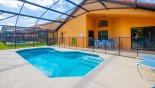 View of the pool - note pool safety fence erected from Sable Palm 3 Villa for rent in Orlando