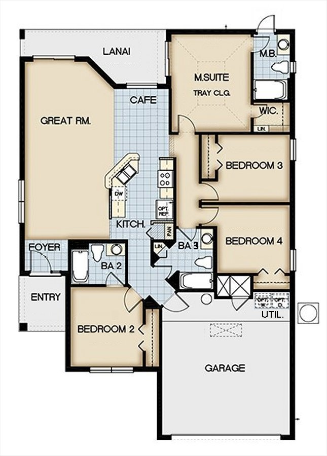 Sable Palm 3 Floorplan